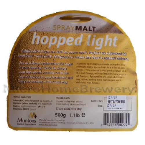 Muntons Spraymalt HOPPED LIGHT 500g