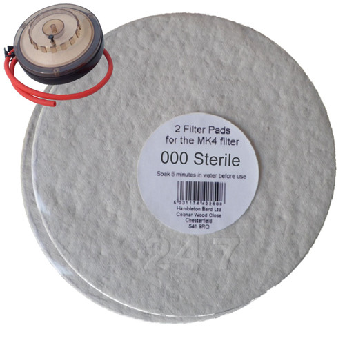 Better Brew MK4 Filter Pads 000 Sterile 2pk