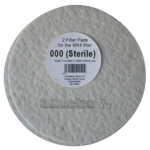 Better Brew MK4 Filter Pads 000 Sterile 2pk