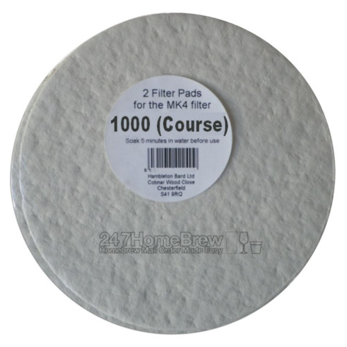 Better Brew MK4 Filter Pads 1000 Course 2pk
