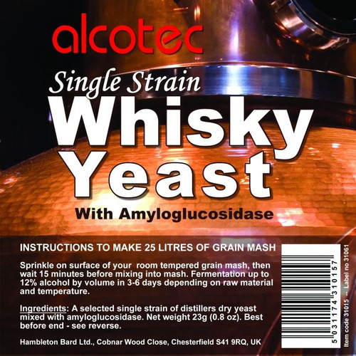 Alcotec Single Strain Whisky Yeast 25L