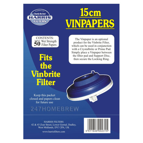 Harris VinPapers 15cm Wine Filter Papers
