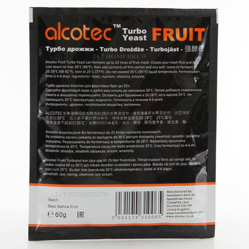 Alcotec Distillers Yeast Fruit with Enzyme 25L