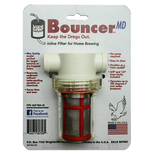 Bouncer Mac Daddy Inline Beer Filter 1/2 & 3/8 barbs