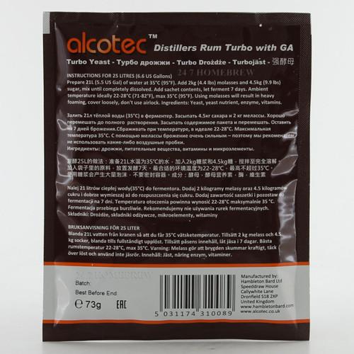 Alcotec Distillers Yeast Rum with Glucoamylase 25L