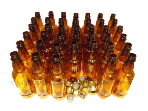 20 Amber PET Beer Bottles & caps 500ml (pint)