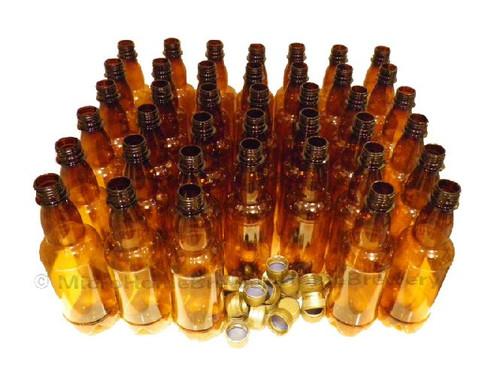 20 Amber PET Beer Bottles & caps 500ml (pint)