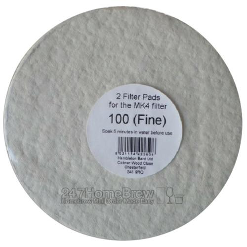 Better Brew MK4 Filter Pads 100 Fine 2pk