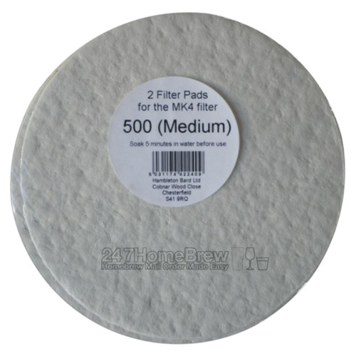 Better Brew MK4 Filter Pads 500 Medium 2pk