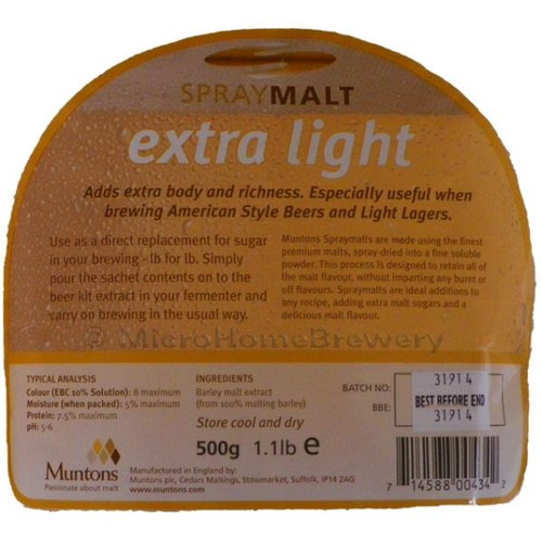Muntons Spraymalt EXTRA LIGHT 500g