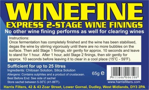 Harris WineFine 24hr Express Wine Fining