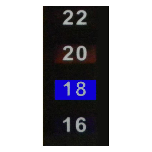 LCD Stick On Thermometer Self Adhesive