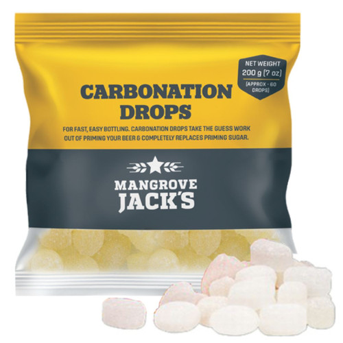 Mangrove Jacks Carbonation Drops 60 200g Sugar Tablets for priming beer bottles