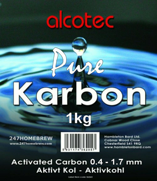 Alcotec Pure Karbon Activated Carbon 1kg for Purify Spirit, Water & Distilling