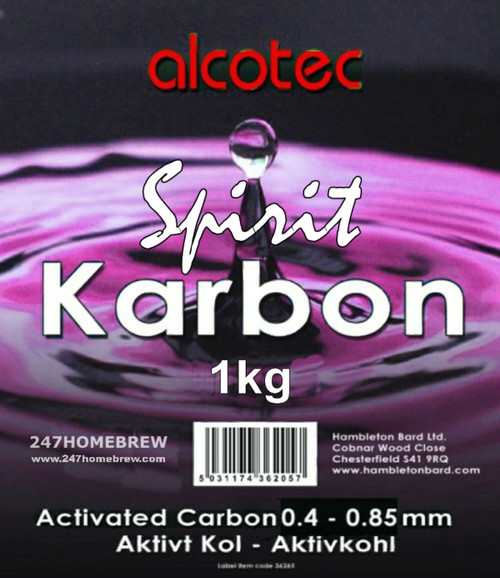Alcotec Spirit Karbon Activated Carbon 1kg Purify Water & Homebrew Distilling
