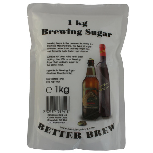 1kg Brewer Sugar Dextrose for Homebrew Wine, Beer & Cider Making Better Brew