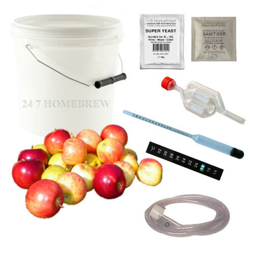 Cider Making Kit Full Homebrew Starter - 5L/1 Gallon/10 Pints Beer Wine Mead