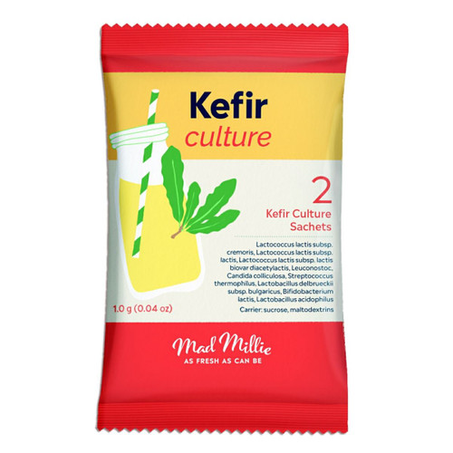 Mad Millie Kefir Culture 2x pack Makes up to 6L of Natural Health Drink