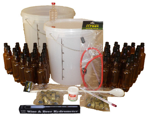 Beer Making Equipment - Full Starter Kit for 33L/7 Gal Homebrew Ale Cider Lager