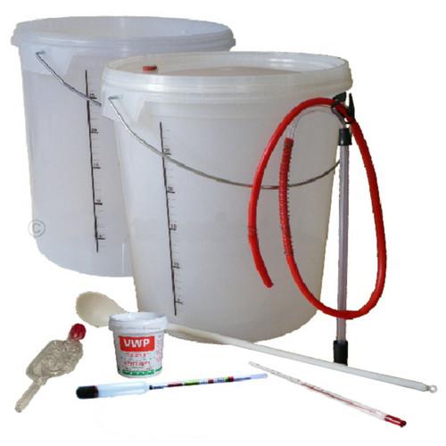 Beginners Full Homebrew Kit For Wine & Cider All Equipment & Chemicals for 33Ltr
