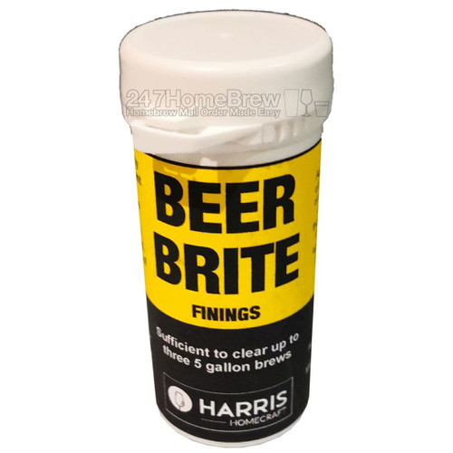 Harris Beer Brite Beer Finings treats 69L (three 5 gallon batches)