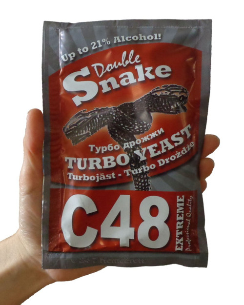 40x Packets Double Snake C48 Turbo Yeast 25L 21% Homebrew Vodka Wash Moonshine