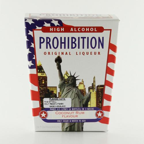 Prohibition Coconut Rum High Alcohol Liqueur Kit makes 4.5L 21% ABV