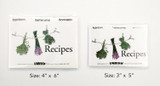 Clear Solutions, LabelEZE Recipe Cards - sizes