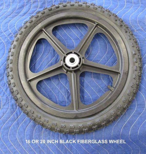 "16"" black fiberglass wheels (ea)"