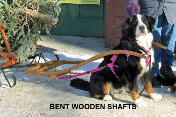 Custom Made Laminated Bent Wood Shafts* with Brass Tips and Wood Tree(Customized to fit exitings wagon)