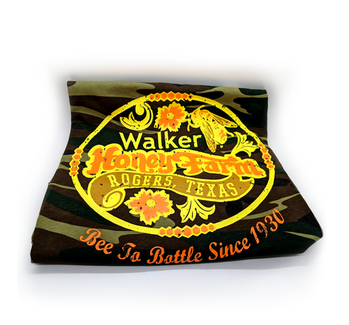 Camo Walker Honey Farm Logo Shirt