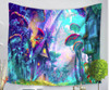 Colorful Trippy Psychedelic Mushroom Electric Forest - Large 150 x 130 cm