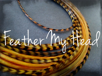 Hair Feather Extensions -Premium Grade Euro Feathers - Select Length And Style Feather - Carmel Brown - Red