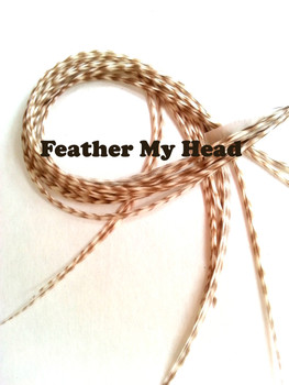 Hair Feather Extensions -Premium Grade Euro Feathers - Select Your Length - Dunn Grizzy - Natural Grizzly with Brown Stripping