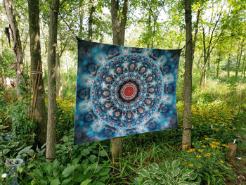 Turquoise Mandala Tapestry - Large 150 x 130 cm Wall Hanging For Dorm Room, Bedroom, Home Decor