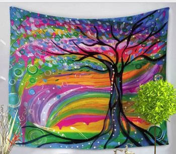 Colorful Tree Tapestry - Psychedelic Forest - Large 150 x 130 cm