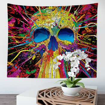 Skull Tapestry -  Gothic - Magical Skeletons - Colorful Wall Hanging -  Wall Art for Living Room, Bedroom, Dorm - Large 150 x 200