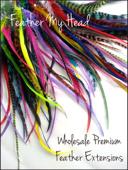 "Bright Wide Accent Feathers With Fluff 7""-11"" (18cm - 28cm)"