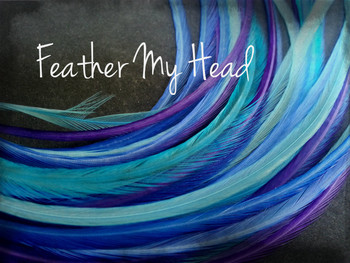 "Feather Hair Extensions - 16 Pc Mix Of Thin Fashion Euro Feathers - Long 9"" -12"" (23-30cm) Blue Purple - Life's A Beach Collection - Dancing Waters - Optional Do It Yourself Kit"
