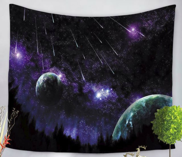 Cosmic Galaxy Night Sky - Space - Planet -  Tapestry - Large 150 x 130 cm