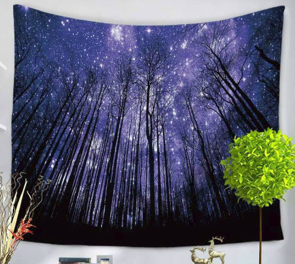 Mystic Forest -  Night Star Sky - Tapestry - Large 150 x 130 cm