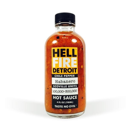 Hell Fire Detroit Habanero Hot Sauce