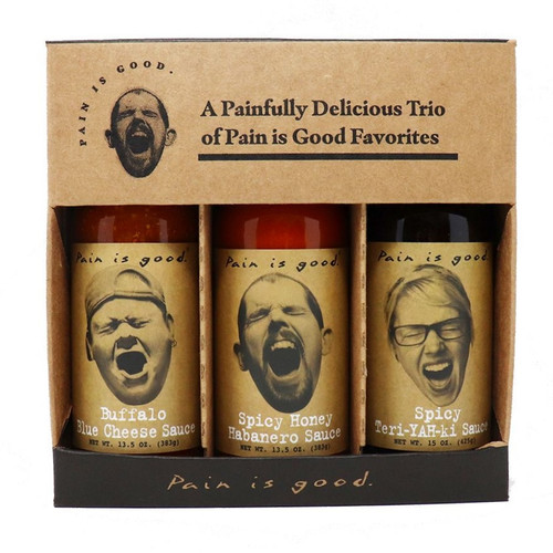 Pain is Good Wing Sauce Gift Set