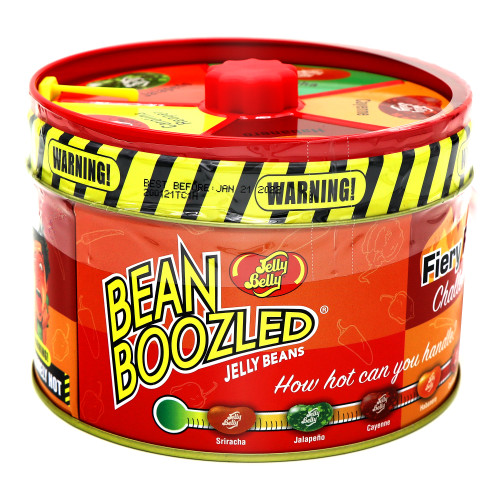 Jelly Belly Bean Boozled Fiery Five Challenge Tin with Spinner Top