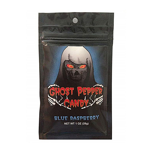 Blue Raspberry Ghost Pepper Candy