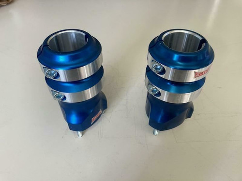Kart Wheel Hub Pair Aluminum 140mm X 40mm  With 50mm Stud Spacing BLUE