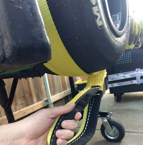 "Shifter Kart - Direct Drive Pull Strap - Start Rope - 2"" Wide w/ Handle Yellow"