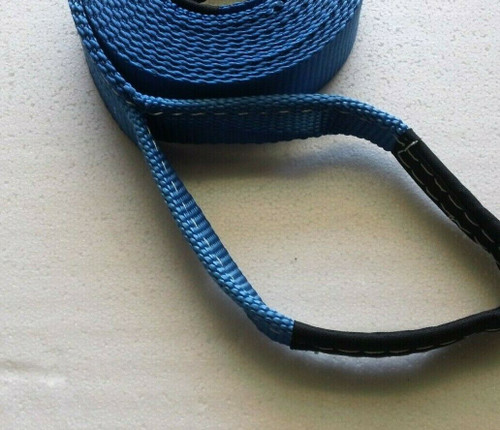 "Shifter Kart - Direct Drive Pull Strap - Start Rope - 2"" Wide w/ Handle Blue"