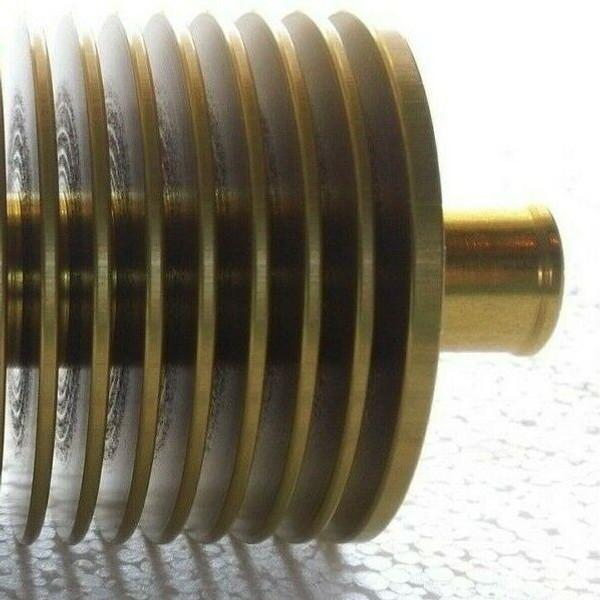 "Wild Kart Inline Water Heat Radiator 17mm / 5/8"" Hose - Gold Aluminum"