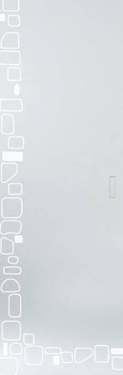 Syntesis® Flush Glass Pocket Door System Patterned STONE